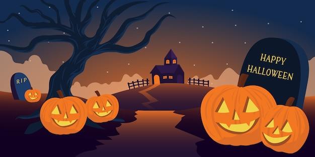Fondo con temática de halloween