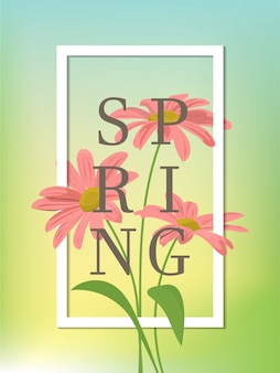 Fondo de la temporada de primavera