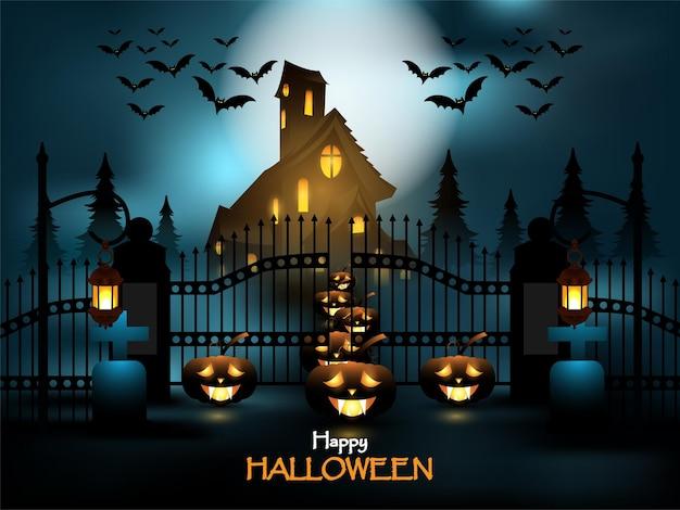 Fondo de terror de la fiesta de halloween