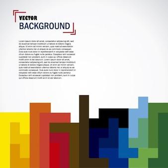 Fondo con tetris colorido