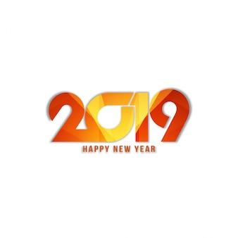 Fondo de texto con estilo abstracto feliz año nuevo 2019