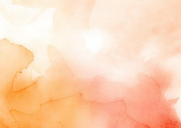 Fondo de textura abstracta acuarela rojo y naranja