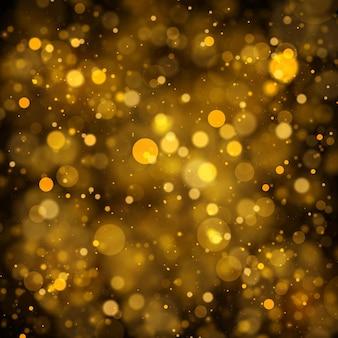 Fondo de textura abstracto oro blanco y negro o plateado brillo y elegante para navidad polvo blanco partículas de polvo mágicas brillantes concepto mágico fondo abstracto con efecto bokeh vector