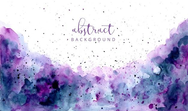Fondo de textura de acuarela abstracta azul púrpura