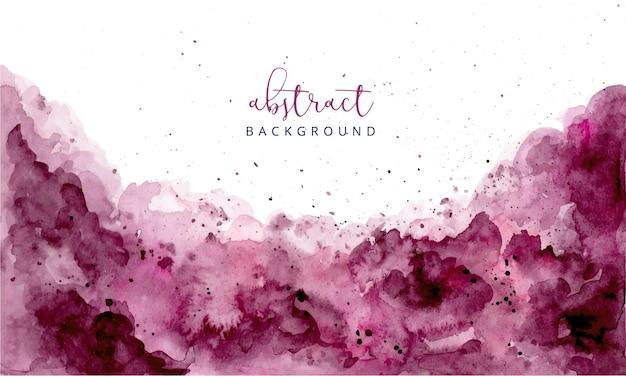 Fondo de textura de acuarela abstracta púrpura rojizo