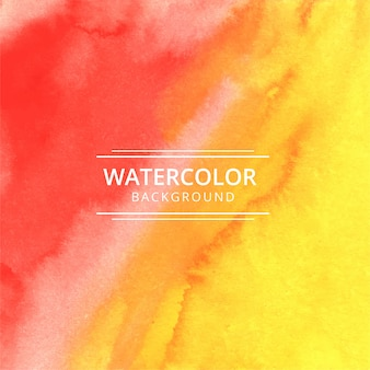 Fondo de textura acuarela abstracta rojo y amarillo