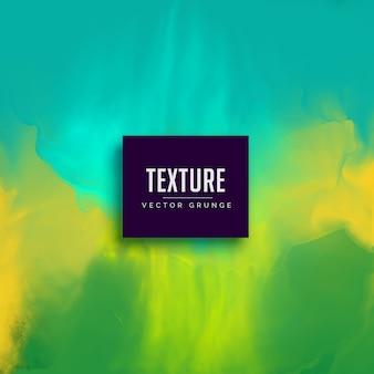 Fondo de textura acuarela abstracta verde y azul