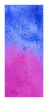 Fondo de textura de acuarela de banner rollup magenta y azul