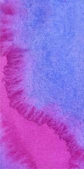 Fondo de textura acuarela magenta y azul banner