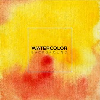 Fondo de textura de acuarela rojo y oragne, pintura a mano. salpicaduras de color sobre el papel blanco