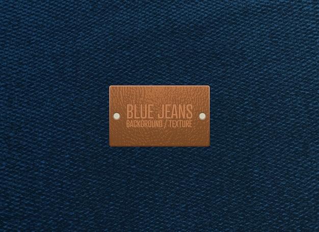 Fondo de textura de blue jeans. ilustración vectorial