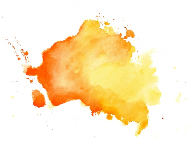 Fondo de textura dibujado a mano acuarela amarilla abstracta