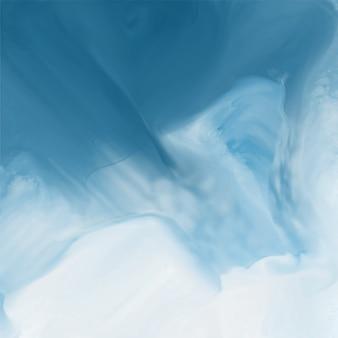 Fondo de textura de flujo de acuarela azul