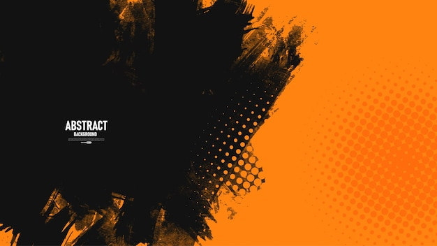 Fondo de textura grunge abstracto naranja y negro