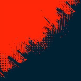 Fondo de textura grunge abstracto rojo y negro