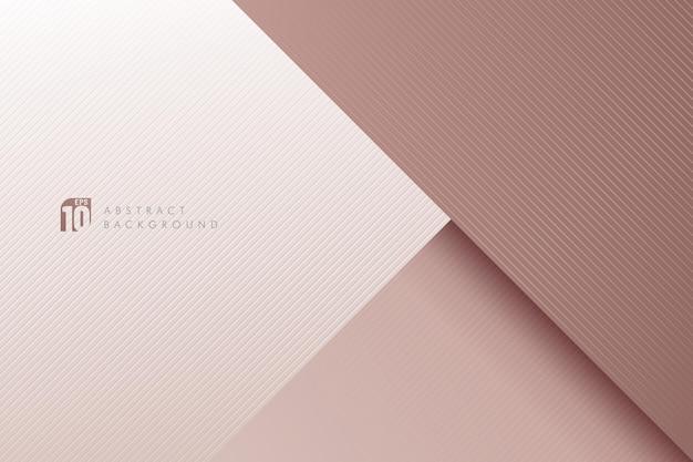 Fondo de textura de líneas de rayas diagonales de oro rosa abstracto