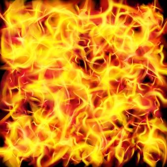Fondo de textura de llama de fuego de vector