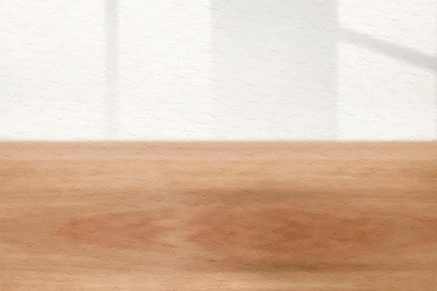 Fondo de textura de madera marrón de vector estético de sombra de ventana