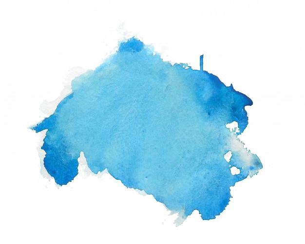 Fondo de textura de mancha abstracta acuarela azul