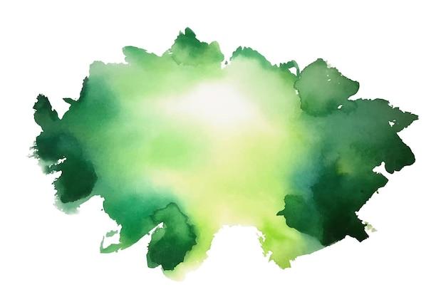 Fondo de textura de mancha de acuarela verde abstracto