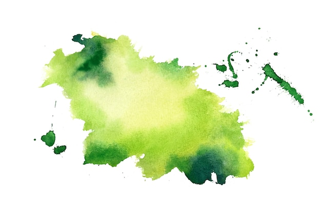 Fondo de textura de mancha de salpicaduras de acuarela verde
