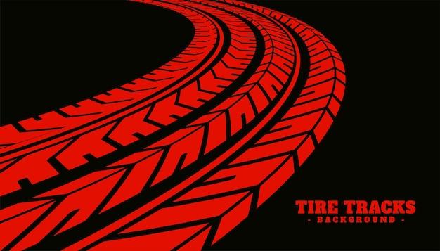 Fondo de textura de marca de impresión de neumático rojo