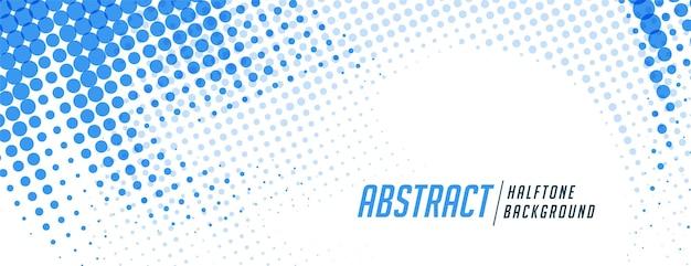 Fondo de textura de patrón de semitono azul abstracto