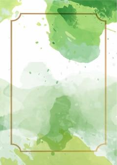 Fondo de textura de pintura abstracta acuarela verde