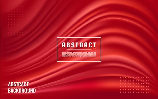 Fondo de textura roja abstracta dinámica, fondo de onda líquida roja