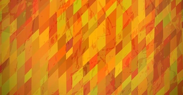 Fondo texturizado abstracto con rectángulos de colores naranjas. diseño de banner. hermoso diseño de patrón geométrico dinámico futurista. ilustración vectorial