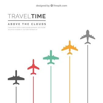 Fondo de tiempo de viajar