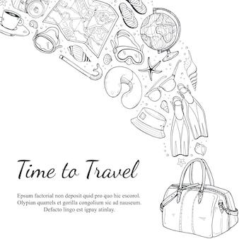 Fondo de tiempo de viaje