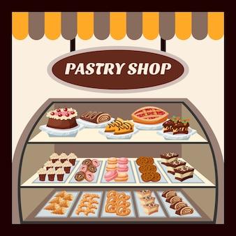 Fondo de la tienda de pastelería