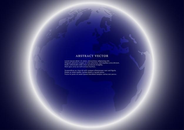 Fondo de tierra del globo.