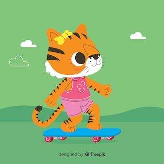Fondo de tigre adorable