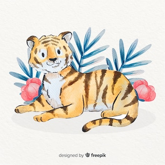 Fondo de tigre adorable