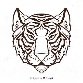Fondo tigre serio