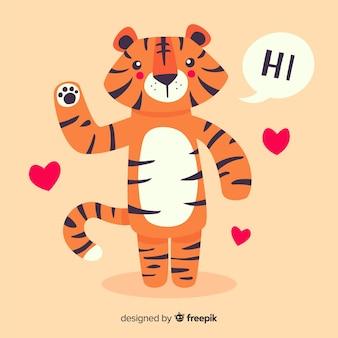 Fondo de tigre