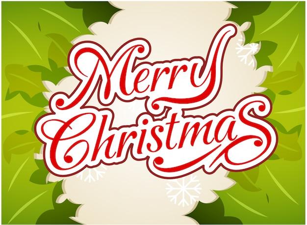 Fondo de tipografía de feliz navidad