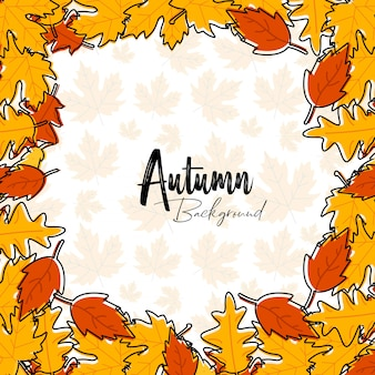 Fondo de tipografía de otoño