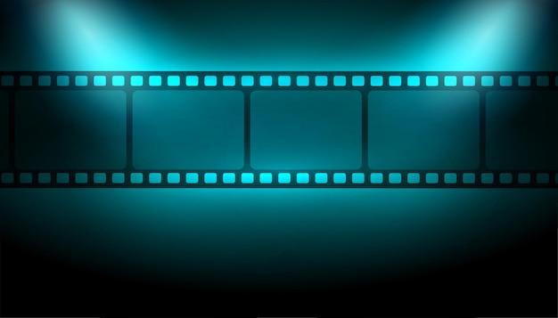 Fondo de tira de película con luces de enfoque