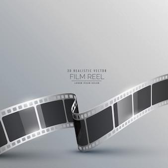 Fondo con tira de película realista