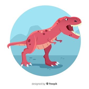 Fondo de tiranosaurio rex dibujado a mano