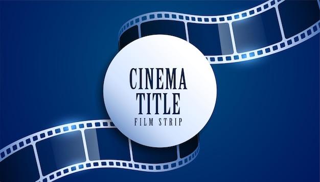 Fondo de título de cine de tira de carrete de película realista