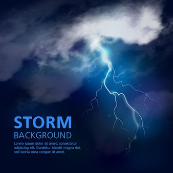 Fondo de tormenta nocturna