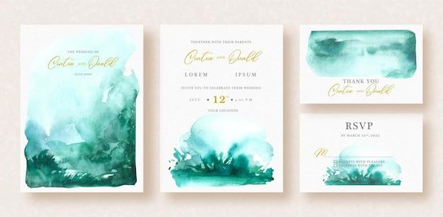 Fondo de tosca splash abstracto en invitación de boda