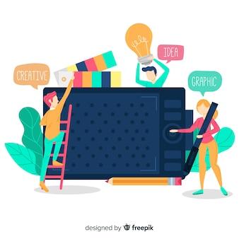 Fondo trabajo en equipo diseño gráfico