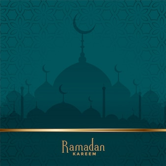 Fondo tradicional del festival de la mezquita de ramadán kareem