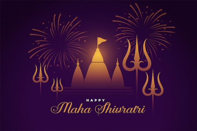 Fondo tradicional hindú feliz festival maha shivrati