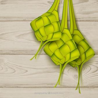 Fondo de tradicional ketupat